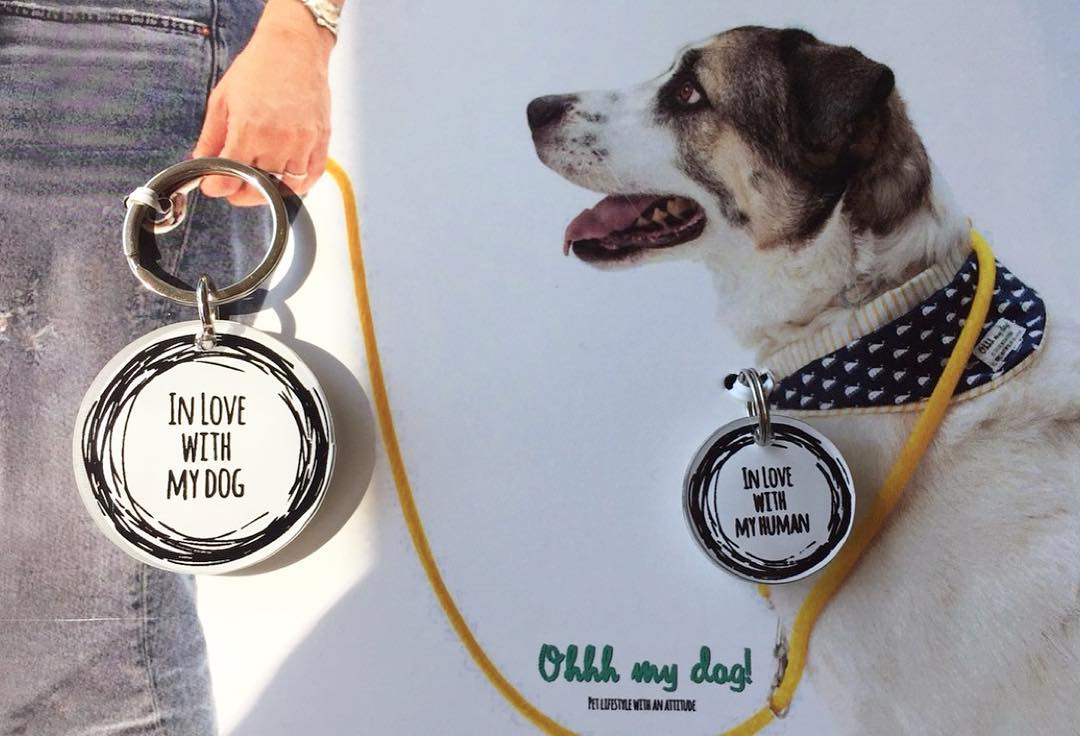 PAWEVER TOGETHER DOG TAG-KEYRING SET